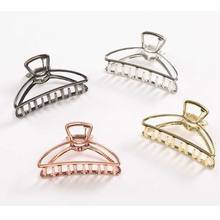 Women Hair Claw Hairpins Stylish Bun Maker Solid Color Women Ladies Hair Crab Make UP Shower hair Holder Hair Accessories(China)