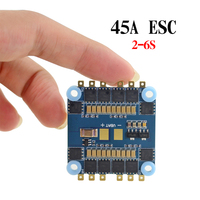 45A 4 in 1 BLHeli S ESC Electric Speed Controller 2 6s LiPo Power supply for FPV Racing Drone Multirotor