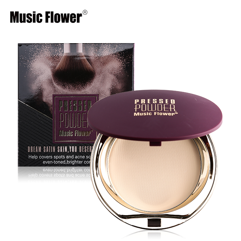 Home Smart Music Flower Face Foundation Base Makeup Matte Shimmer Fix Pressed Powder Palette Concealer Puff Contour Nude Compact Cosmetics