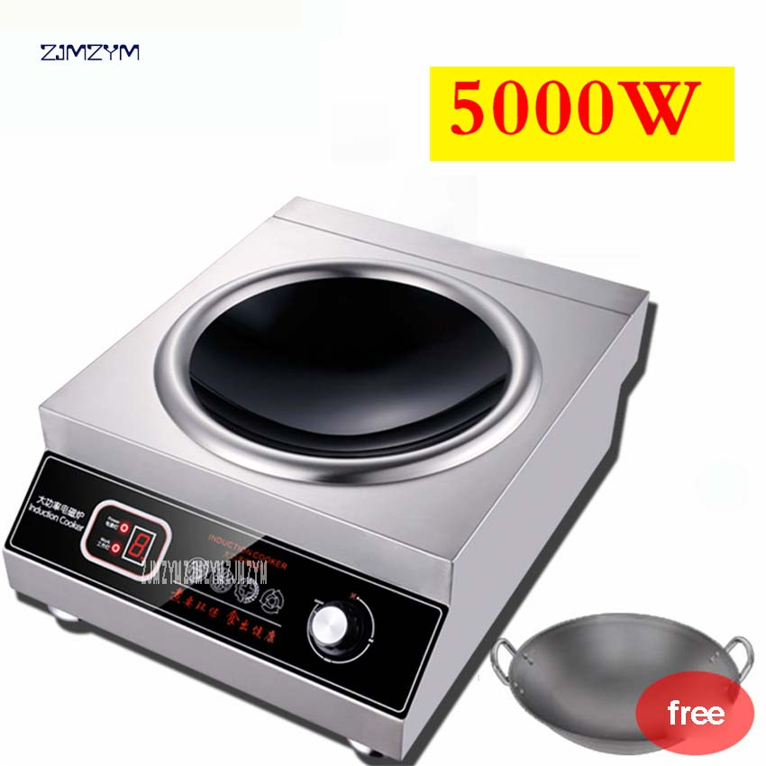 SL 5000Electro Magnetic Concave Induction Cooking Furnace 5000W Commercial Power Commercial Electromagnetic Furnace Cooking Heat