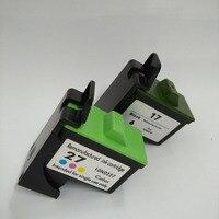 Lexmark 17 27 Mürekkep Kartuşu için Lexmark Z605 Z615 X1100 X1150 X1270 i3 Z13 Z23 Z34 Z515 Z517 Z600 Z603 X2250 X75