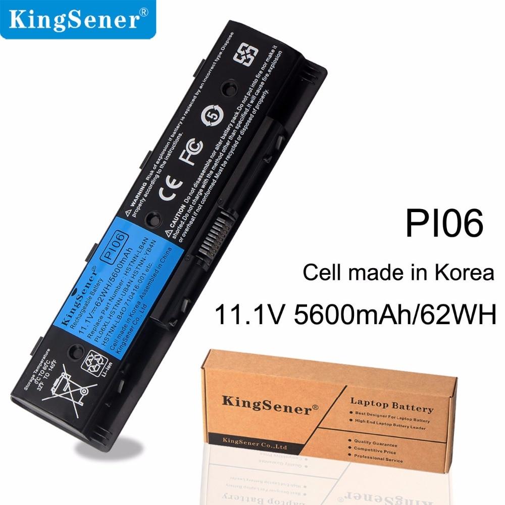 Аккумулятор для ноутбука KingSener PI06 для HP Pavilion 14 Павильон 15 серии PI06 PI09 HSTNN-UB4N HSTNN-UB4O 710416-001 Korea Cell 62WH