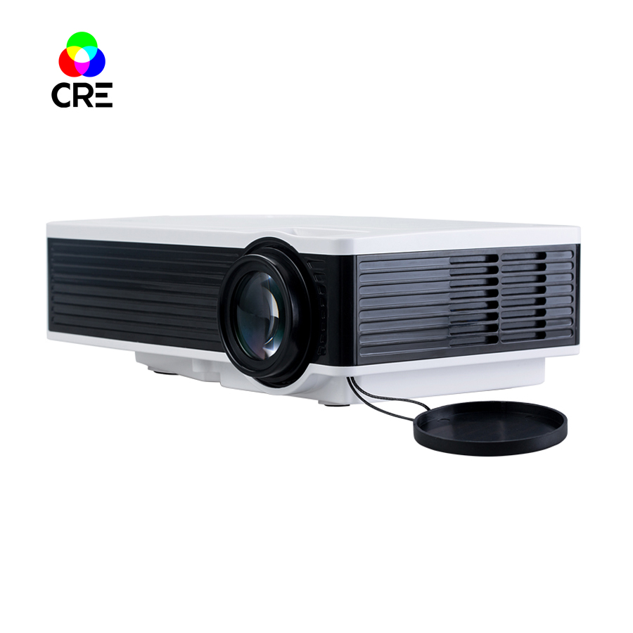 CRE X1600 HD 800*480p/1000 Lumens LED LCD Mini Home theater Video Projector low cost tv home theater led projector support full hd 1080p video media player hdmi lcd beamer x7 mini projector 1000 lumens