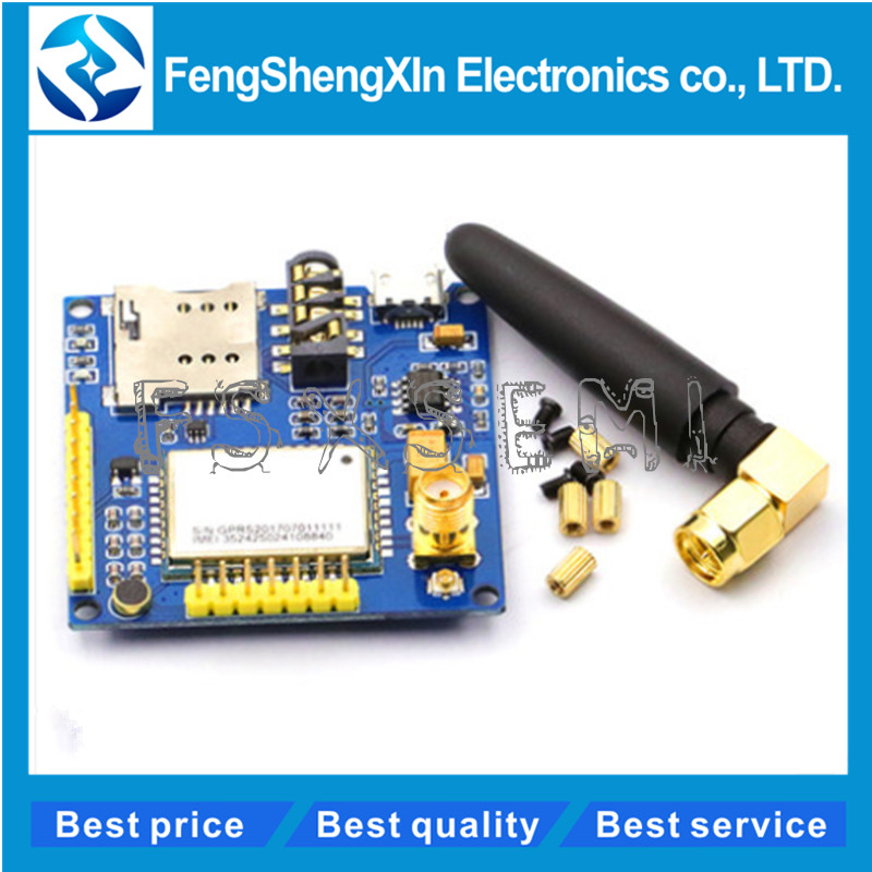 SIM900 A6 GPRS Pro Serial GPRS GSM Module Core DIY Developemnt Board TTL RS232 With Antenna GPRS Wireless Module Data Replace  SIM900 A6 GPRS Pro Serial GPRS GSM Module Core DIY Developemnt Board TTL RS232 With Antenna GPRS Wireless Module Data Replace