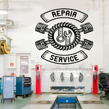 Auto Service, Tires, Repair Service , Car Washing,Wall Decal, Repair Tool Window Sticker,Handmade Wall Vinyl Sticker CS05 цена