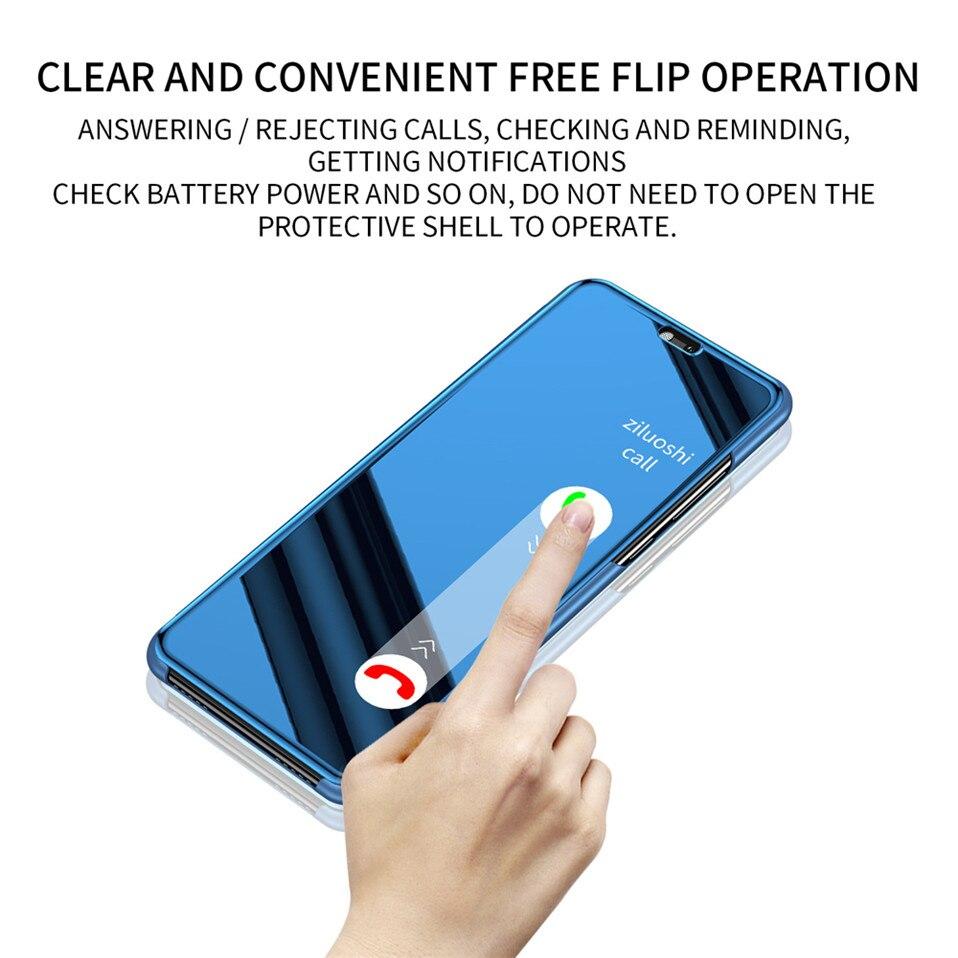 Mirror Flip Case For Xioami Redmi Note 7 5 6 pro 09