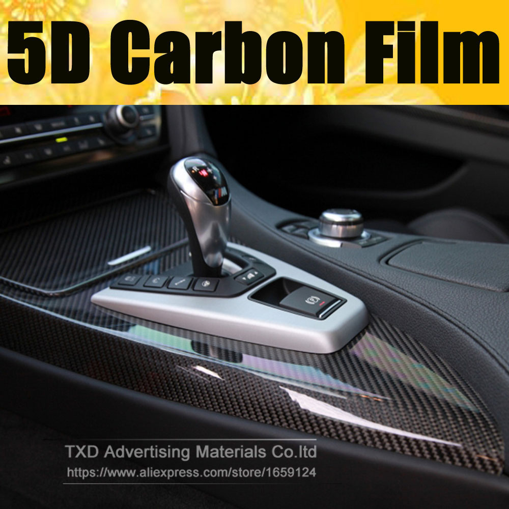 10 designs 30x152cm 8 x60 lot glossy 5d black carbon fiber