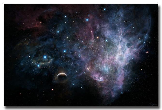 Nicoleshenting Milky Way Galaxy Space Stars Nebula Art