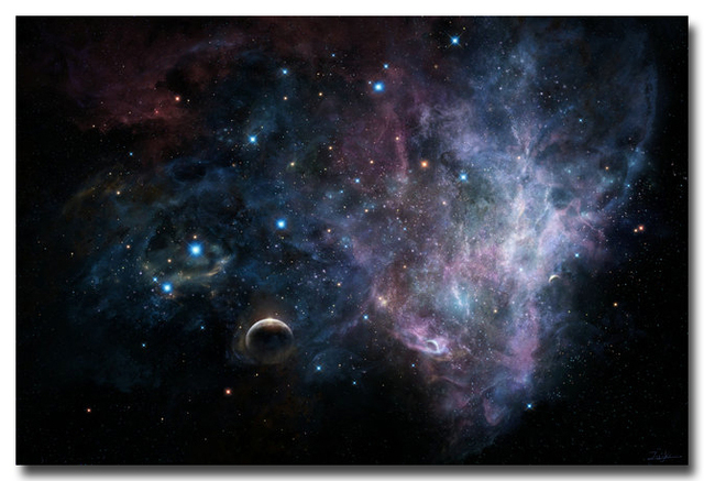 NICOLESHENTING Milky Way Galaxy Space Stars Nebula Art Silk Poster Print Universe Landscape Pictures Living Room