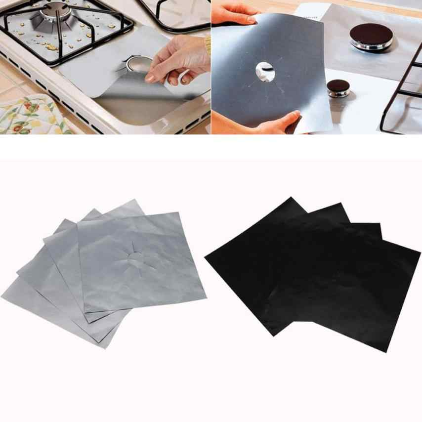 4Pcs Reusable Gas Range Stove Top Burner Protector Liner Cover For Cleaning Teflon Gas Hob Protector Liner microwave cover