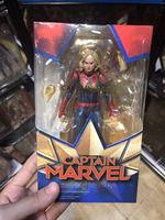 SHF Superhero Legends Series Marvel Avengers 4 Endgame Captain Marvel PVC Action Figure Collectible Model Dolls Toy