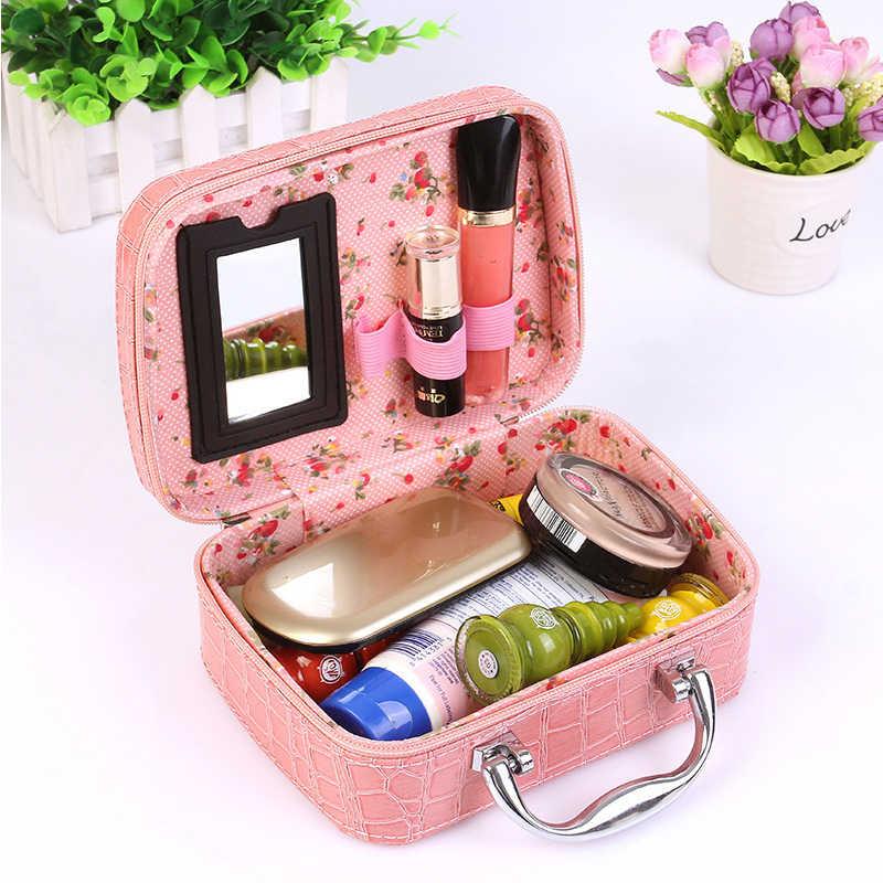 Frauen Kosmetikerinnen Make-Up Fall Kosmetik Tasche Hohe Qualität Reise Veranstalter Schönheit Box Kosmetik Schmuck Toolbox Urlaub Geschenke 2020