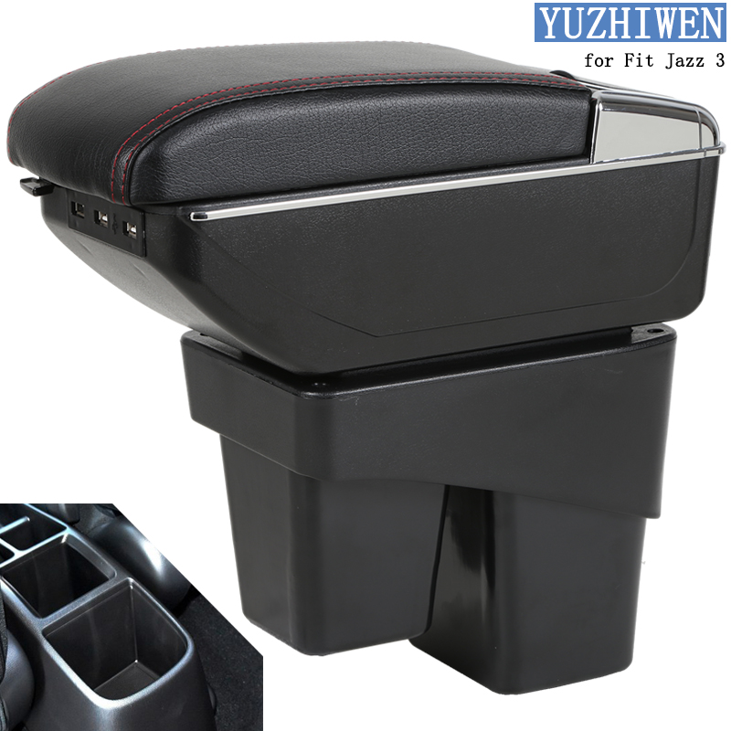 For Honda Fit Jazz Armrest Box Fit Jazz 3 Universal Car Central Armrest Storage Box cup holder ashtray modification accessoriesFor Honda Fit Jazz Armrest Box Fit Jazz 3 Universal Car Central Armrest Storage Box cup holder ashtray modification accessories