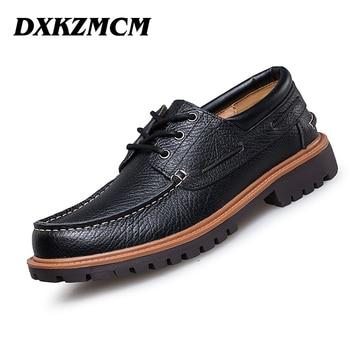 Handmade genuine leather men shoes, Men Flats shoes, business dress shoes,Men oxford Formal Shoes size 38-47