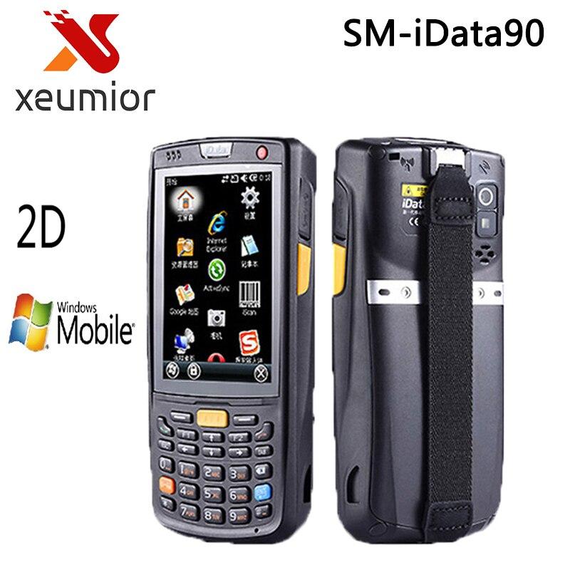 SM-iDATA90 IP65 Industrielle De Poche PDA avec 1D, 2D Laser Barcode Scanner pour Windows Mobile 6.5 OS POS Terminal de Données