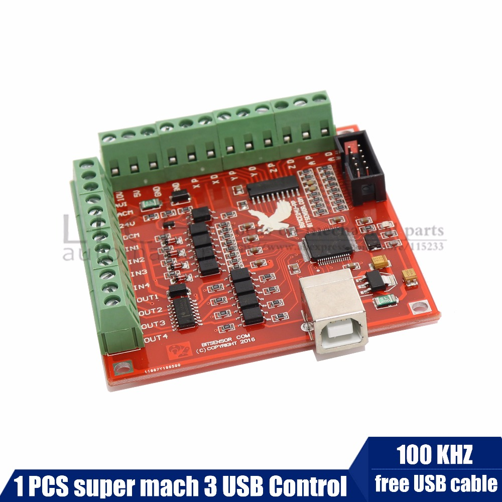 Free shipping CNC USB MACH3 100Khz Breakout Board 3 Axis Interface Driver Motion Controller Suitable for stepper motorsFree shipping CNC USB MACH3 100Khz Breakout Board 3 Axis Interface Driver Motion Controller Suitable for stepper motors