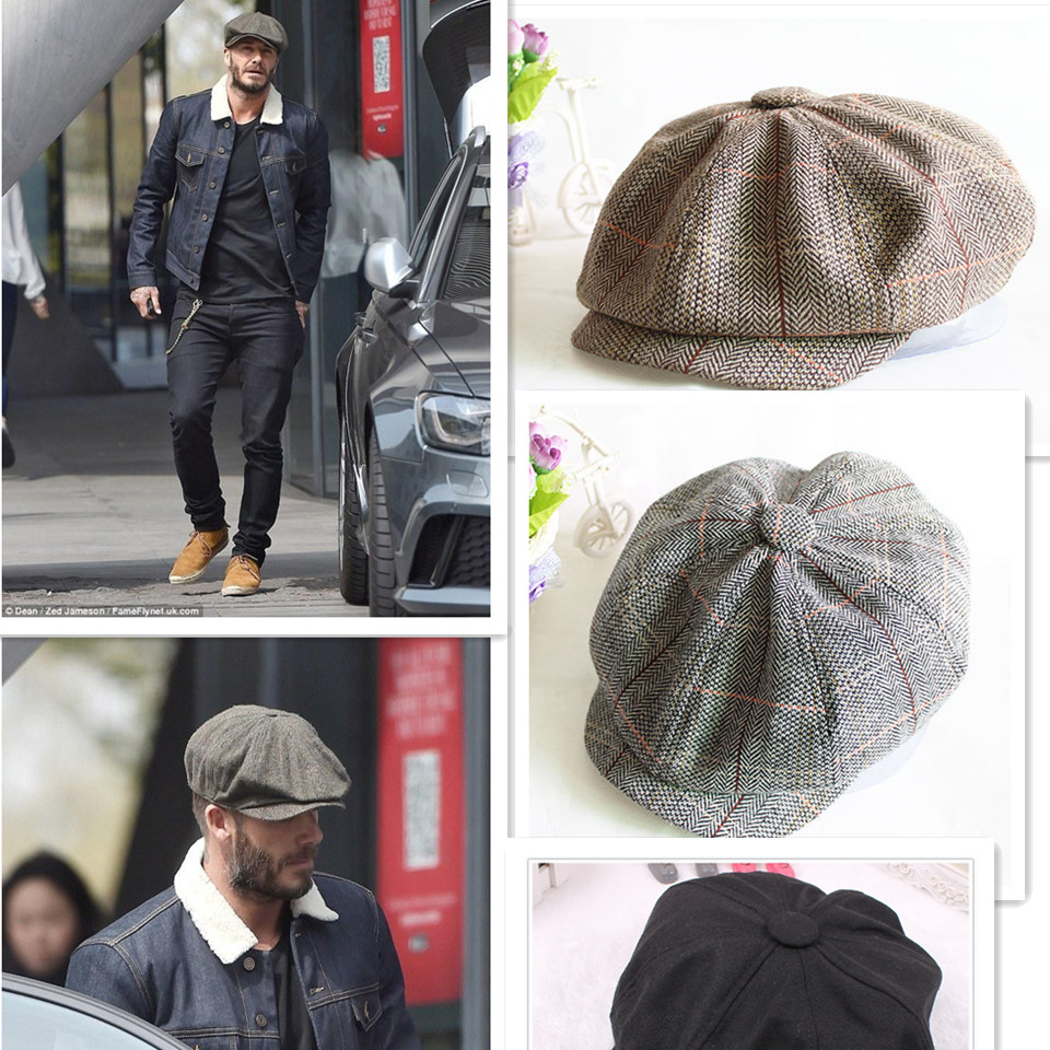 Golf Caps Tennis Caps Autumn And Winter Hats For Men's International Superstar Jason Statham Male Models