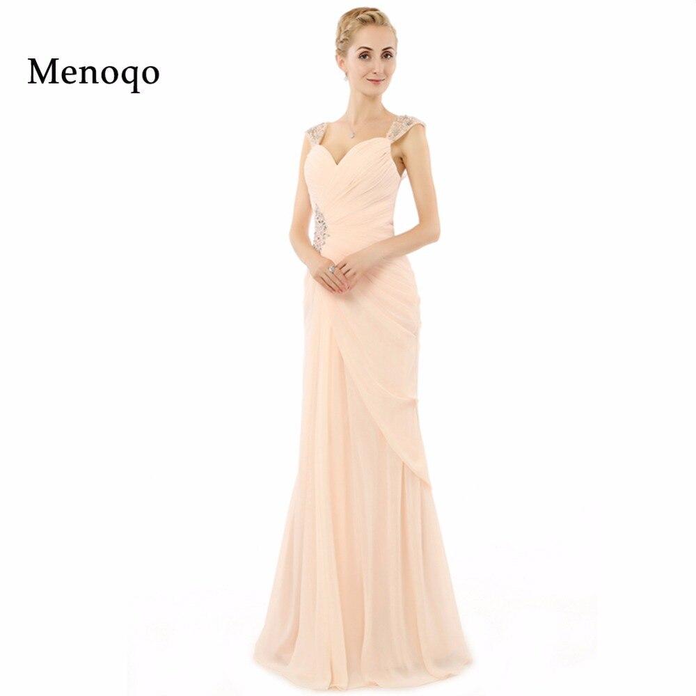 Vestidos de festa Charming Style Sheath Cap sleeve Beaded Floor length long Chiffon Special occasion Real Prom dresses long