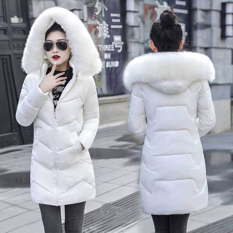 2019 hiver nouvelle veste femmes épais neige porter hiver manteau dame vêtements femme vestes Parkas fausse fourrure Parkas femmes doudoune