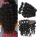 Indian Loose Wave with Frontal Closure Indian Virgin Hair Loose Wave with Ear to Ear Lace Frontal Ali Moda Wet Wavy Human Hair