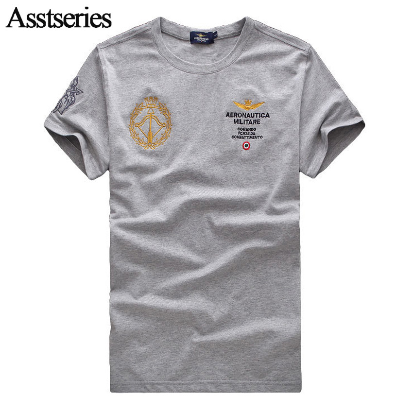 2018 New Fashion Fitness Embroidery Men Short Sleeve T Shirt Air