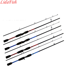 LIDAFISH2017 New 1.8m Red and Blue Casting Fishing Rod Spinning Rod Shrink Length 95cmFishing rodLure Rodfree delivery