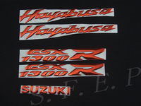 Motorcycle Emblem Badge Decal 3D Tank Wheel Logo For Suzuki Hayabusa GSXR1300 Sticker