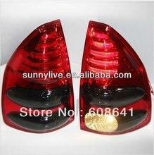 For TOYOTA Prado FJ120 LED Rear Lights Red Back V2 Type