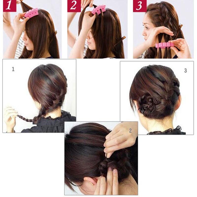 Sponge Twist Styling Hair Braider Braid Tool Holder Clip Diy French