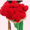 10 PCS Plush Curtain Rose Bouquet Decorative Flower Valentines Day Wedding Bouquets 30CM Rose Transformable Plush Stuffed Toys