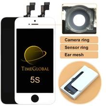 10 шт. 100% новый alibaba китай нет мертвых пикселей лучшее качество для iphone 5s жк-тест ок + рамка + держатель камеры, бесплатная доставка