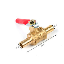 6/8/10/12mm Hose Barb Red Handle Pagoda Brass Water Oil Air Gas Fuel Line Shutoff Ball Valve Pipe Fittings(China)