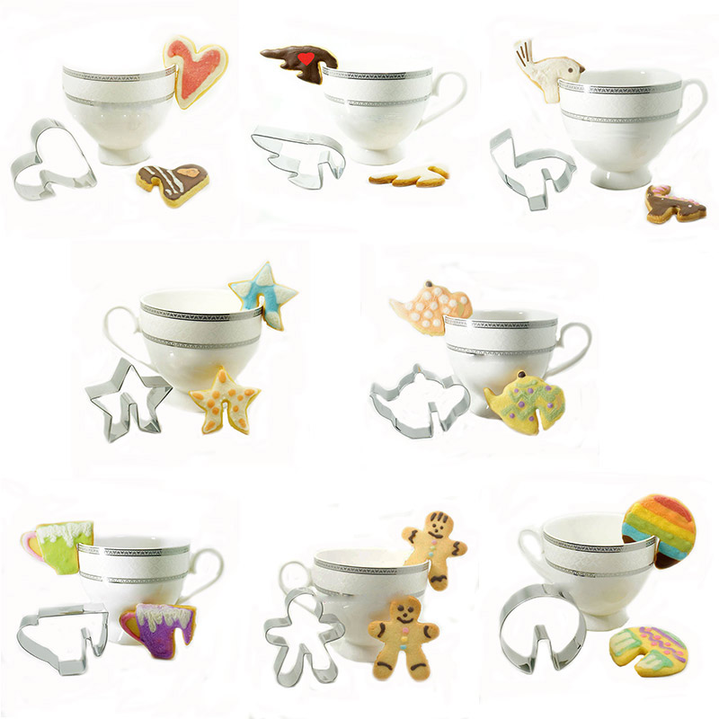 Creative hang cup cookie cutter 8 pieces/set