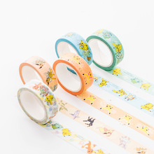 1 pcs/lot Cartoon Washi Tape DIY Japanese Paper Pokemon Decorative Adhesive Tape/Masking Tape Stickers цена и фото