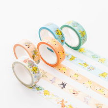 1 Pcs/lot Kartun Washi Tape Diy Kertas Jepang Pokemon Dekoratif Pita Perekat/Masking Tape Stiker(China)