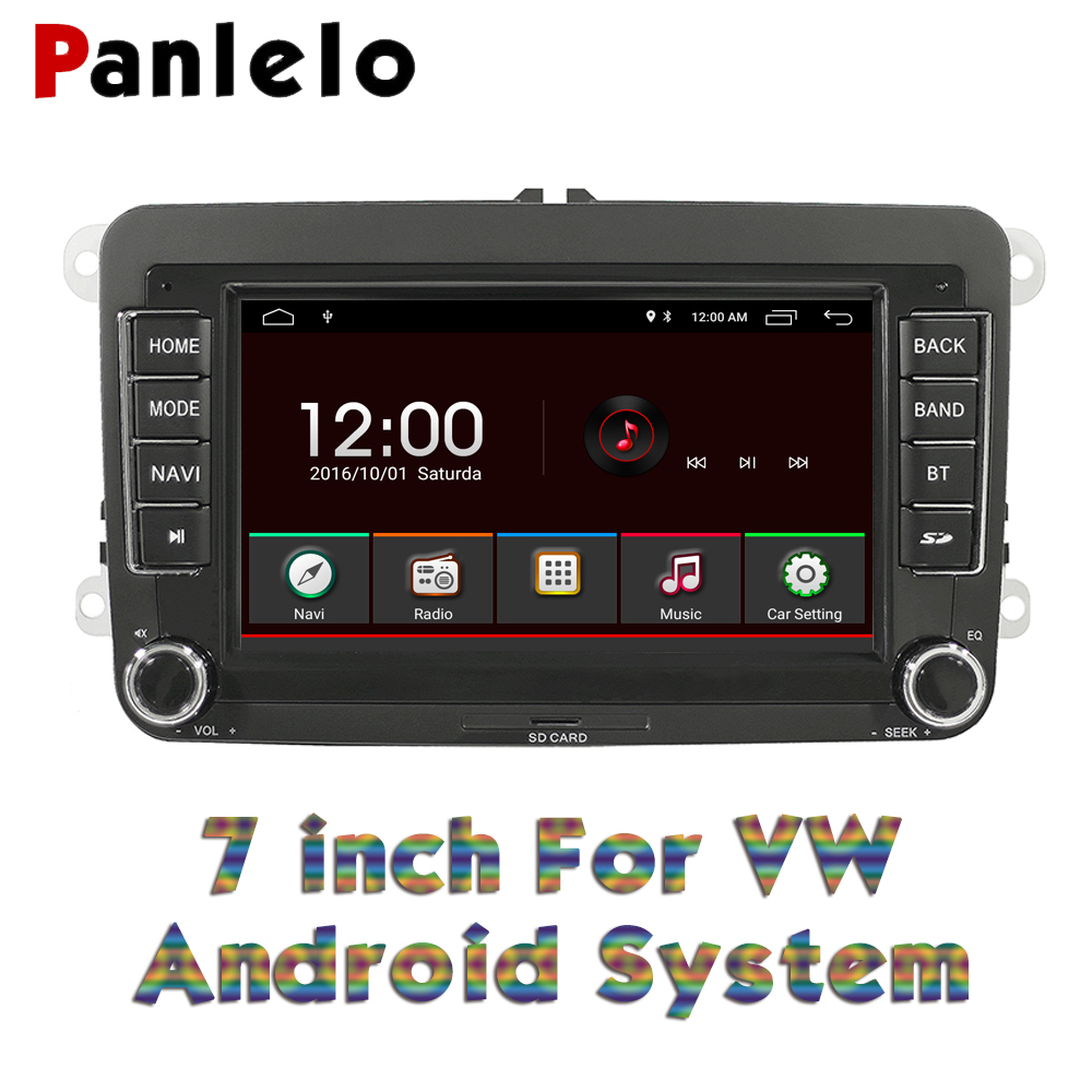 Panlelo S7 For Volkswagen 7 Inch Android Autoradio Radio Multimedia Car Android For Golf 5 Navigation Car Multimedia Player