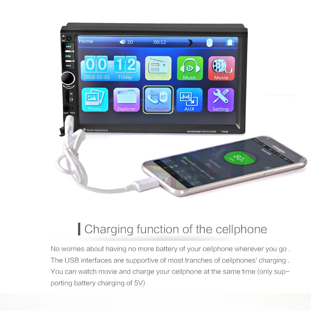 USB Din HD 7'' 12