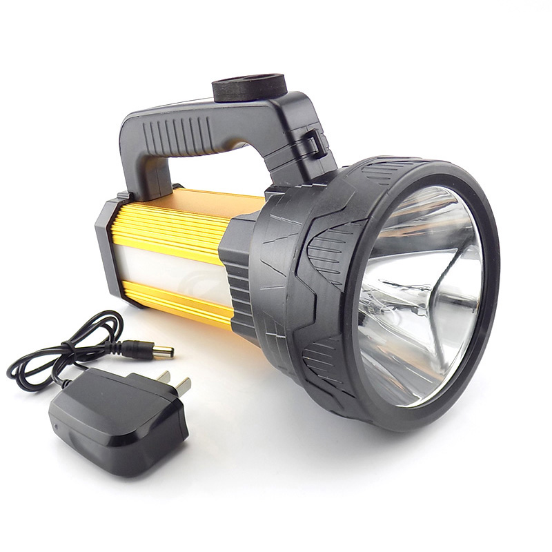 T6+ COB Protable Searchlight rechargeable LED flashlight Lanterna with side led flash light hand Torch flash lamp for working protable led flashlight rechargeable hand searching light flash lamp torch night working camping long range lanterna powerful