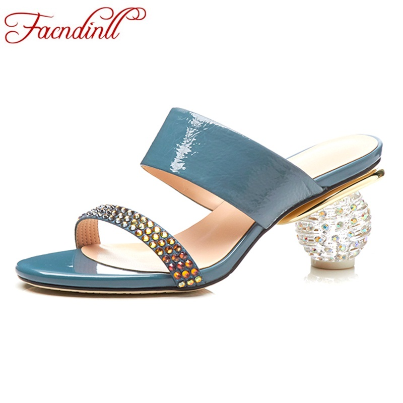 FACNDINLL gladiator sandals women summer shoes new sexy high heels women rhinestone dress party wedding casual shoes sandals 42