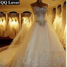 Vestido de novia de lujo de gran tren, novedad, 2020, Sexy, con cuentas de cristales, hecho a medida, de talla grande
