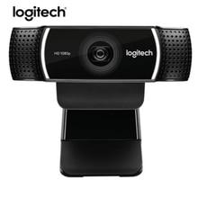 100% оригинал logitech C922 PRO Автофокус веб-камера Встроенный микрофон Full HD якорная камера со штативом