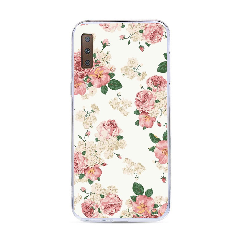 Soft Cases For Samsung Galaxy A7 2018 Phone Cover Silicone Back Case Cover For Samsung A5 A7 J5 2017 A8 Plus 2018 S8 S9 Plus