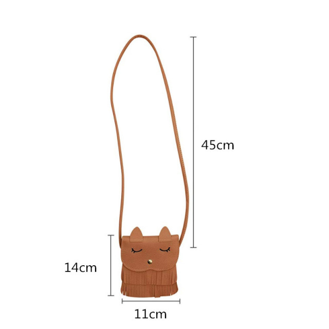 XZXBBAG Cute Animal Cat Children Messenger Bags Small Girl Mini Pouch Kawaii Crossbody Case Cartoon Shoulder Bags Coin Purse