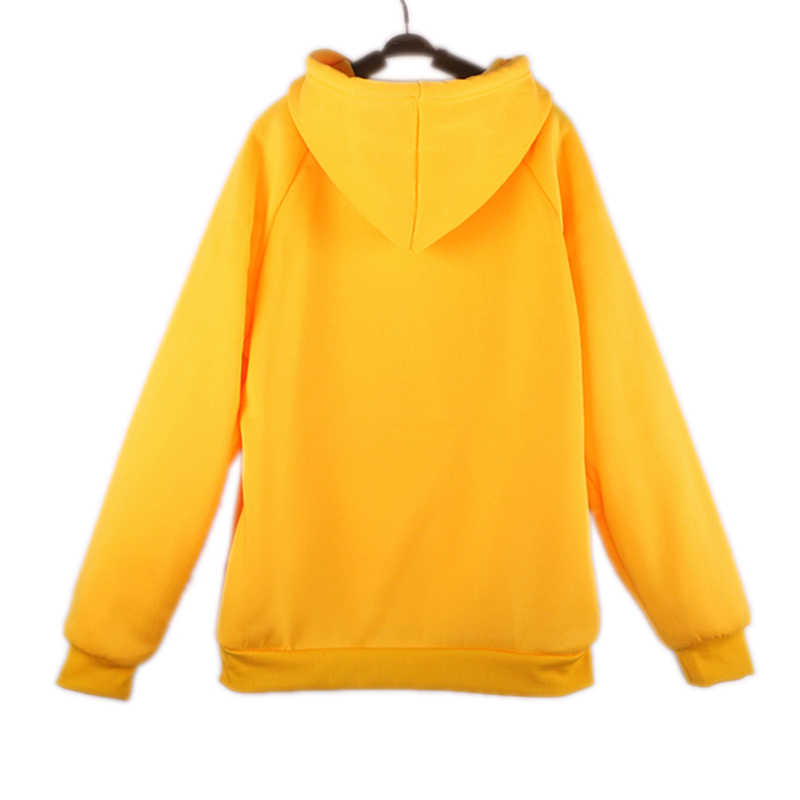 Oh Yes Letter Print  Casual Hoodies Sweatshirt Women 2019 New Winter Fleece Hooded Pullover Thick Loose Women Hoodies Outwear