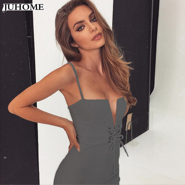 kendall jenner sexy Spaghetti Strap suspender dress sexy deep v neck bodycon Women backpack hip clothes sexy club party vestidos 4