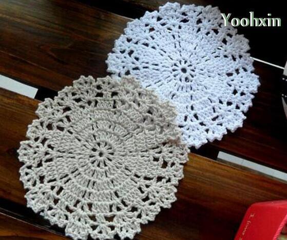 Heißer Handgemachte Spitze Baumwolle Tischset Tuch Küche Runde
