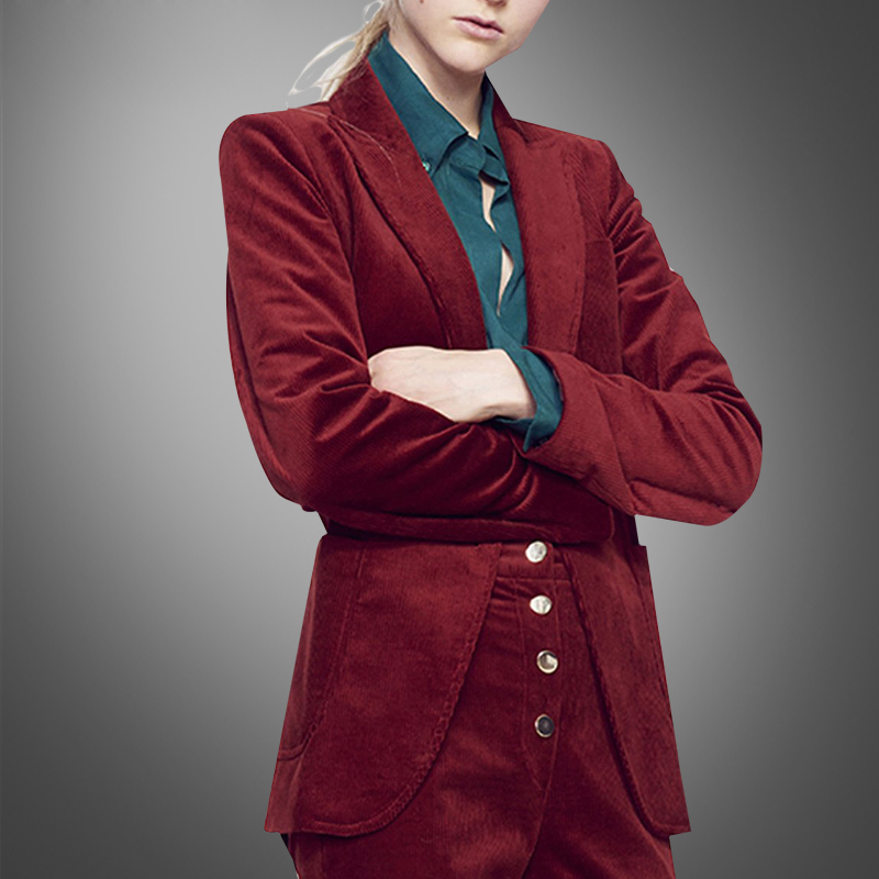 Spring Fashion Slim Suit Jacket And High-end Fashion Red Leisure Suit