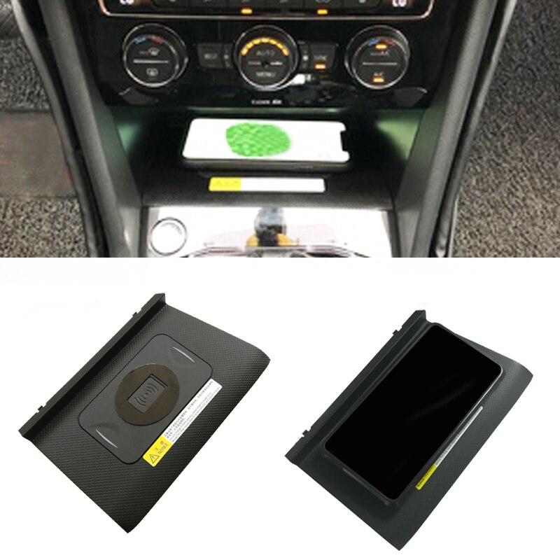 10W voiture QI chargeur sans fil adaptateur panneau de charge rapide support pour téléphone accessoires pour VW Tiguan MK2 Allspace 2017 2018 pour iPhone