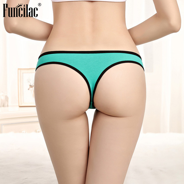 FUNCILAC Lace Transparent G String Sexy For Women Ladies Underwear Thong String Seamless Underpant Low Waist Bikini 1 Piece
