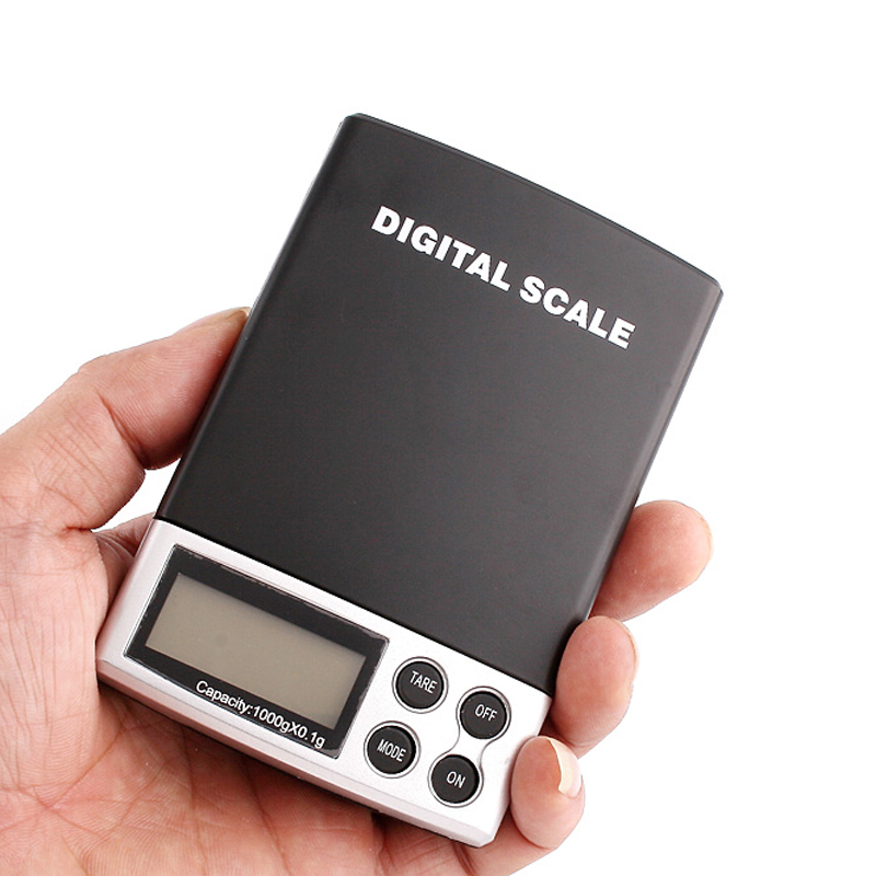 Digital Gem 0.1g X 1000g gram diamond pocket lab scale 1kg backlight LCD display